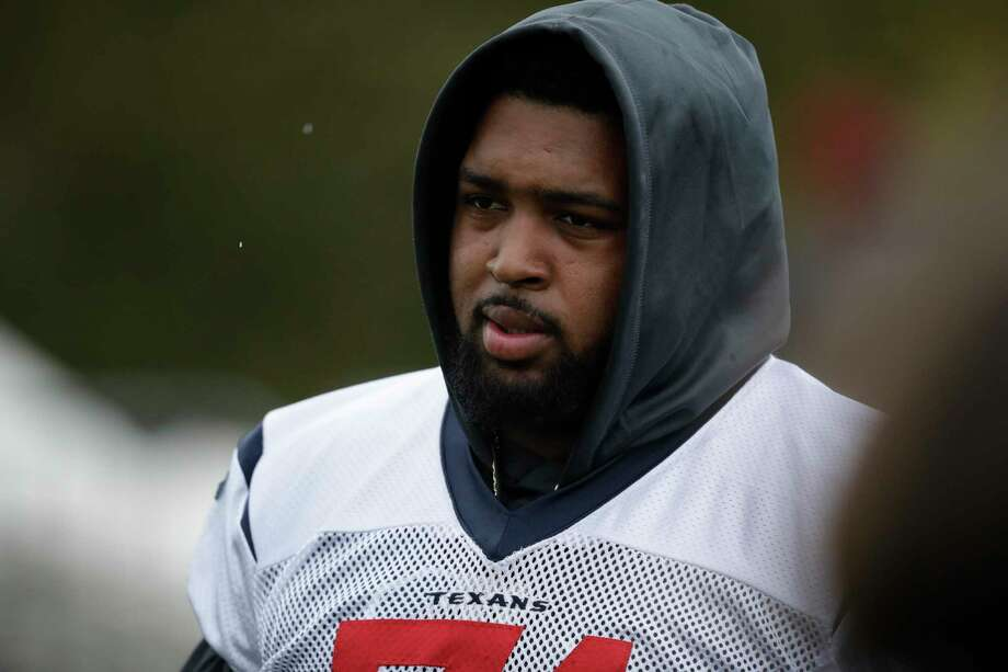Texans rookie tackle Tytus Howard missed time earlier this season with a sprained MCL. Photo: Matt Dunham, STF / Associated Press / Copyright 2019 The Associated Press. All rights reserved
