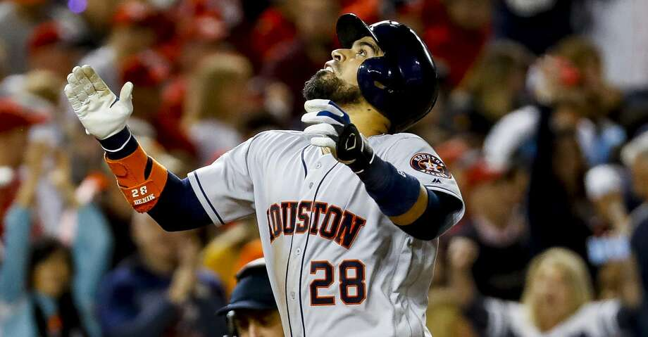 PHOTOS: Astros' contract situations Houston Astros catcher Robinson Chirinos (28) celebrates his solo home run during the sixth inning of Game 3 of the World Series at Nationals Park in Washington, D.C. on Friday, Oct. 25, 2019. Browse through the photos to see the contract status for each Astros players as the offseason begins. Photo: Brett Coomer/Staff Photographer
