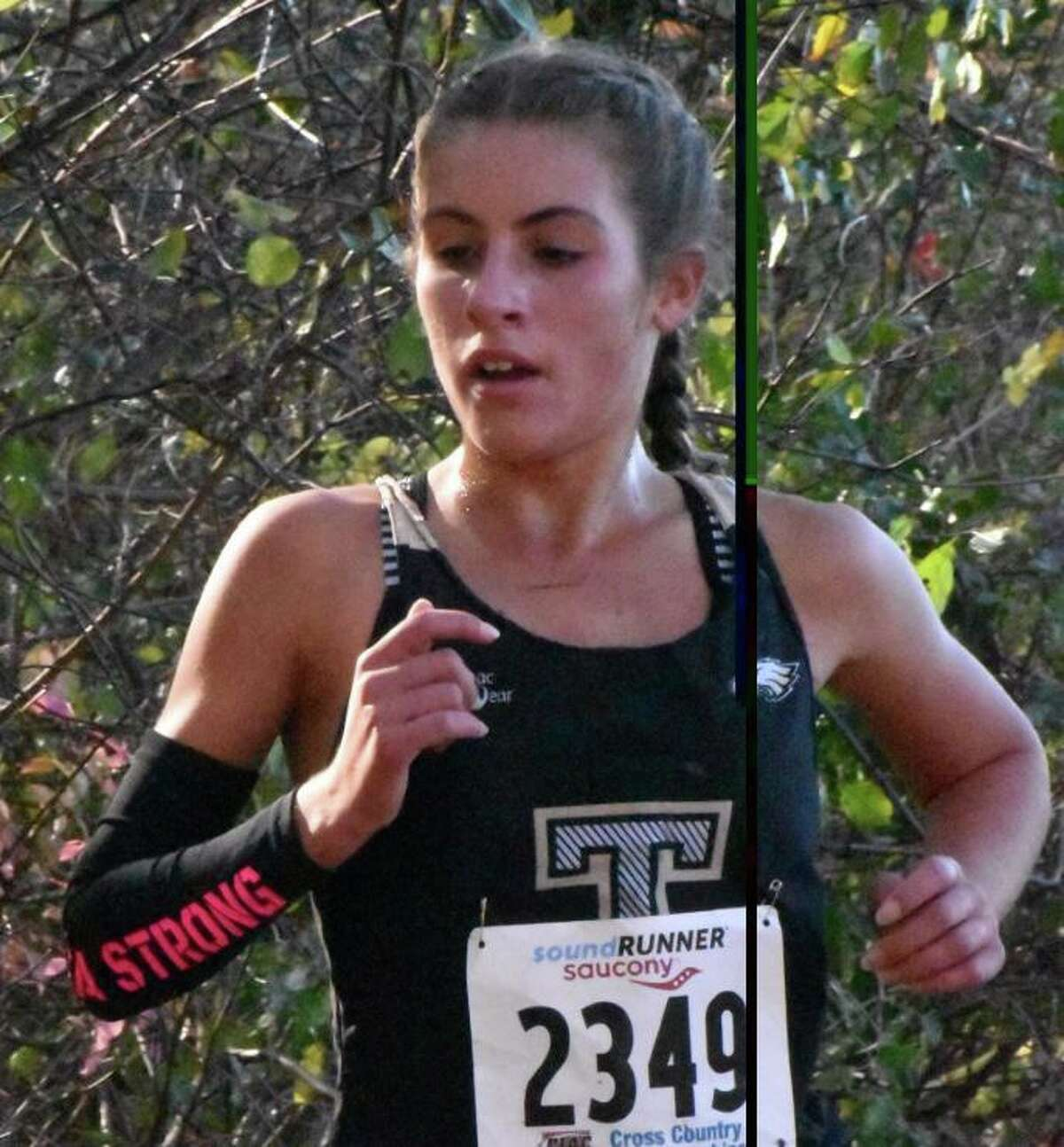 Senior Alessandra Zaffina led third-place Trumbull with a ninth-place overall finish at the State Open meet at Wickham Park.