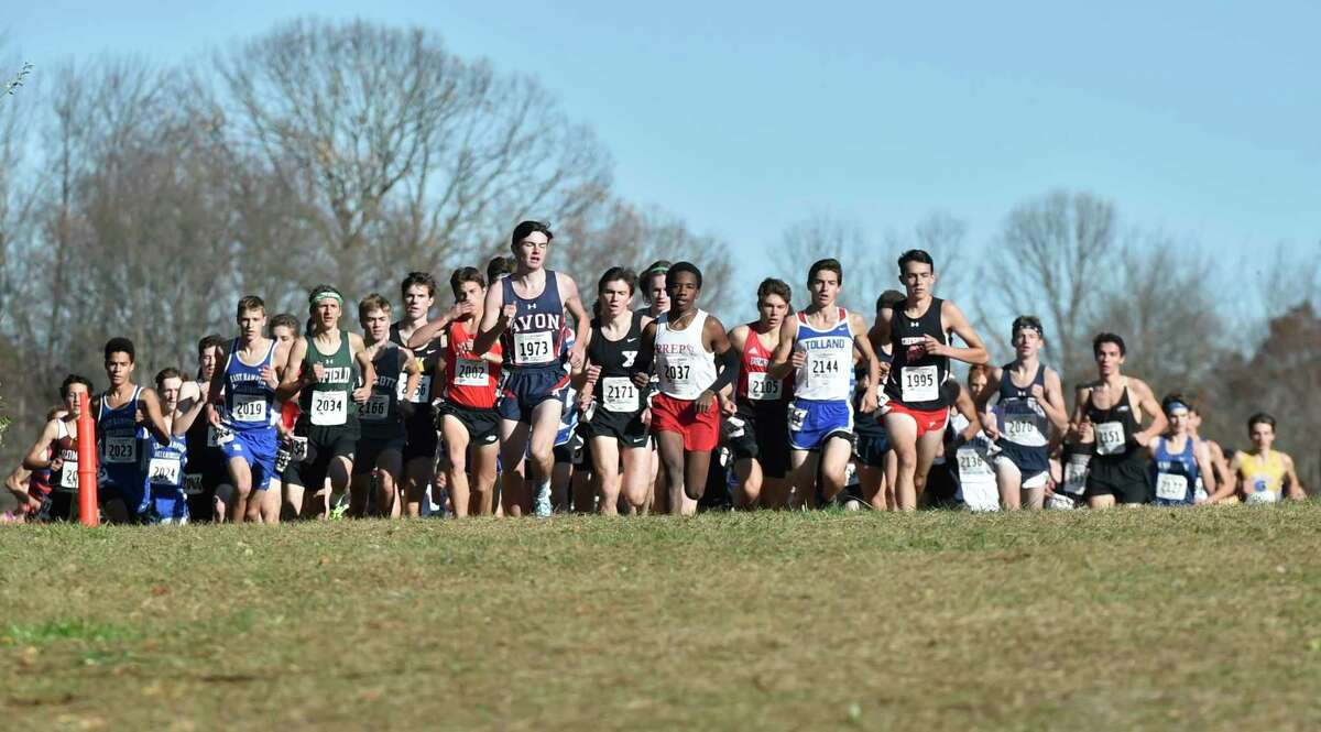 Manchester, Connecticut -Wednesday, November 1, 2019: The CIAC Boys Cross Country Open Championship Friday at Wickham Park in Manchester.