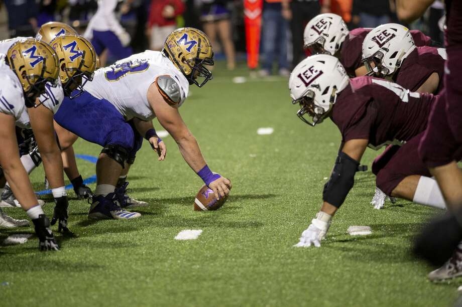 Midland High snaps the ball Friday, Nov. 1, 2019 at Grande Communications Field. Photo: Jacy Lewis/Reporter-Telegram