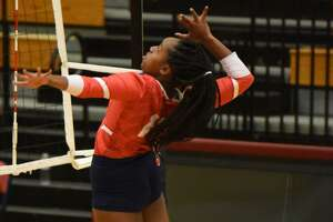 Senior middle blocker Zaire Miles is happy to advance to the playoffs in her last season with the Lady Eagles.