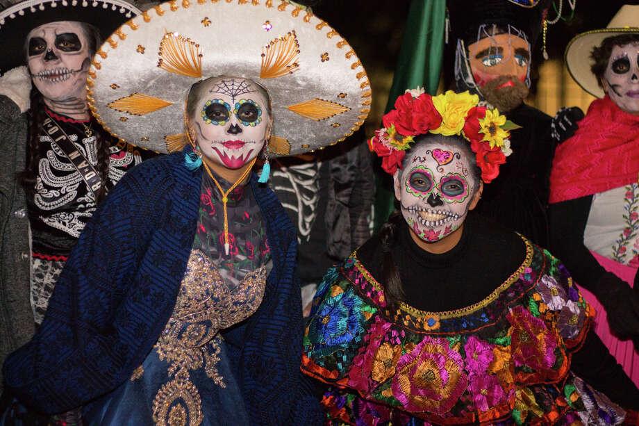 Hundreds of people flocked to Discovery Green in Houston, Texas on Nov. 1 2019 to celebrate Dia de los Muertos. Photo: Katrina Martinez, Contributor / @ 2019 Houston Chronicle