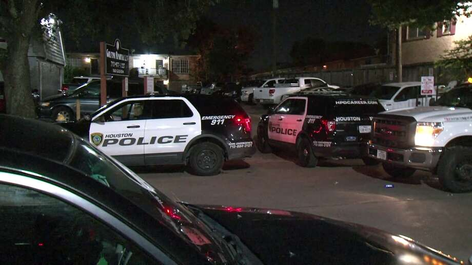 A young man is dead after he was shot multiple times in an apartment complex courtyard in southwest Houston Friday night. Photo: Metro Video Services
