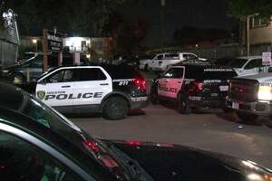 A young man is dead after he was shot multiple times in an apartment complex courtyard in southwest Houston Friday night.