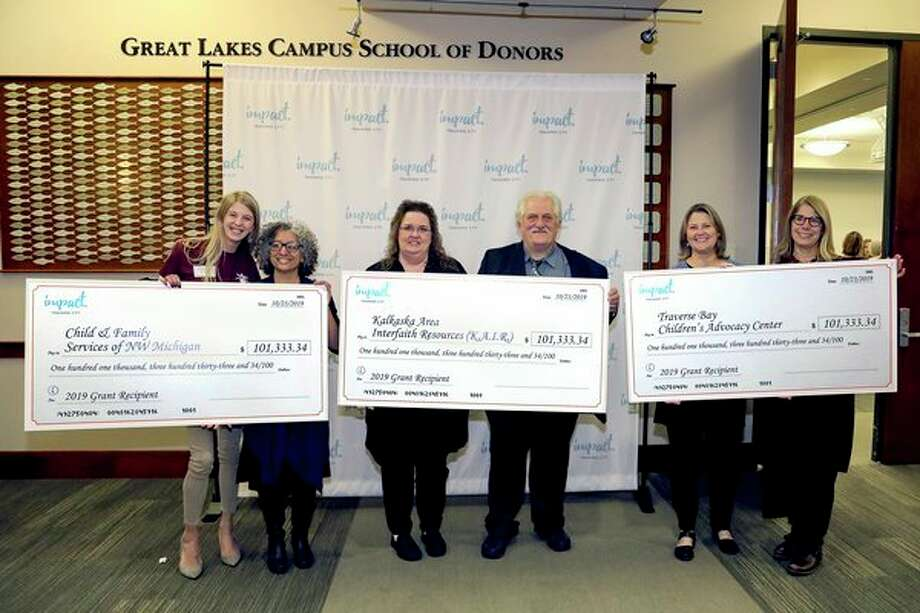 Impact 100 Traverse City awarded $304,000 in grants to three regional nonprofits;Child and Family Services of Northwestern Michigan, Traverse Bay Children's Advocacy Center and Kalkaska Area Interfaith Resources (K.A.I.R.).