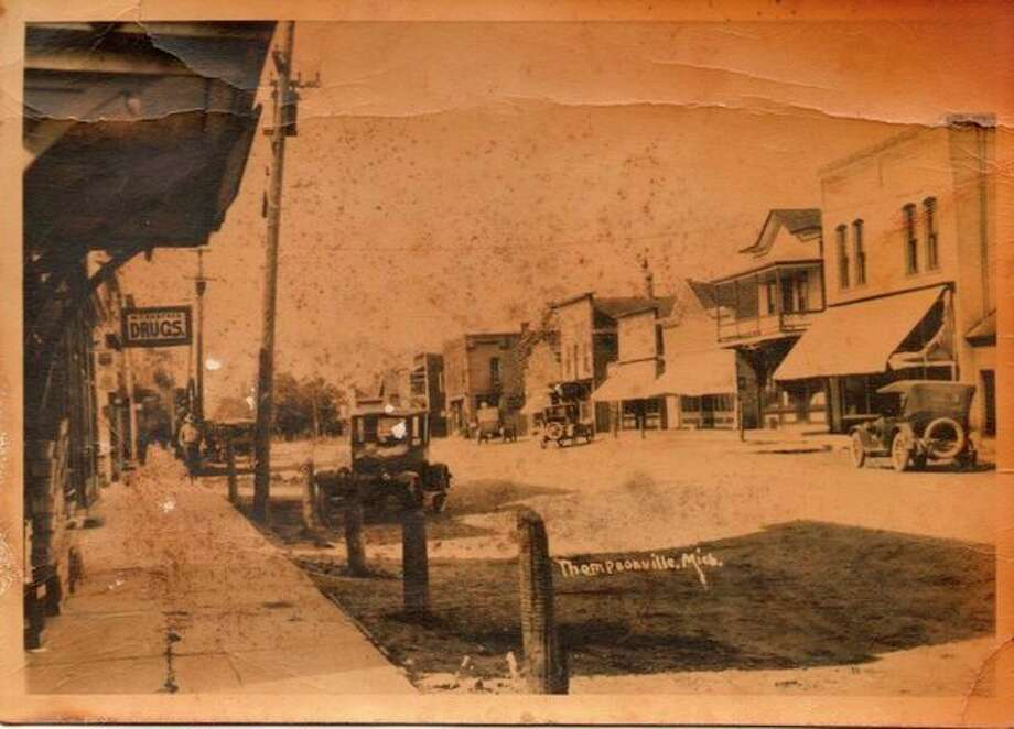 Main street of Thompsonville, about 1915. (Courtesy Photo /Benzie Area Historical Museum)