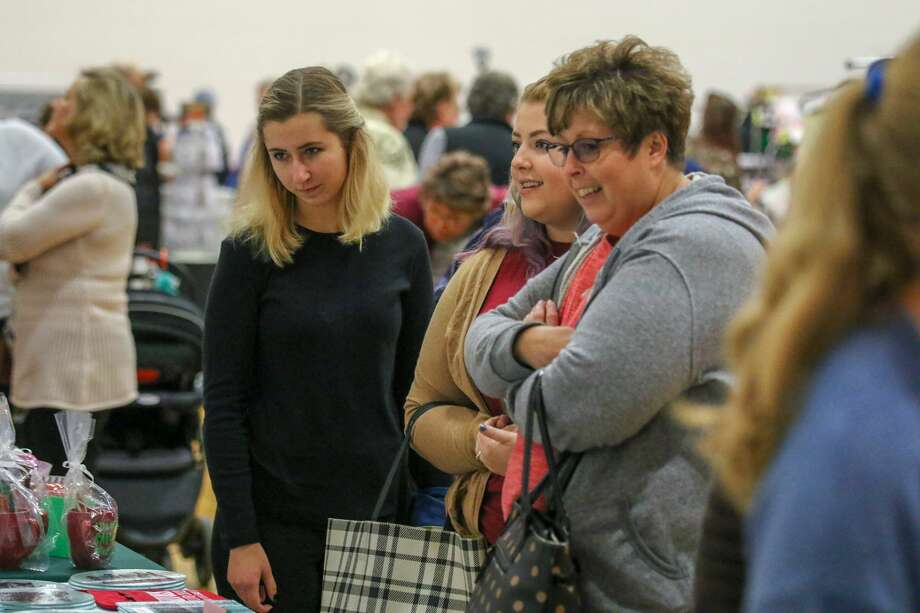 People packed Caseville Public Schools Saturday for the 51st annual Holly Berry Fair as they started their holiday shopping for the year. Photo: Eric Young/Huron Daily Tribune