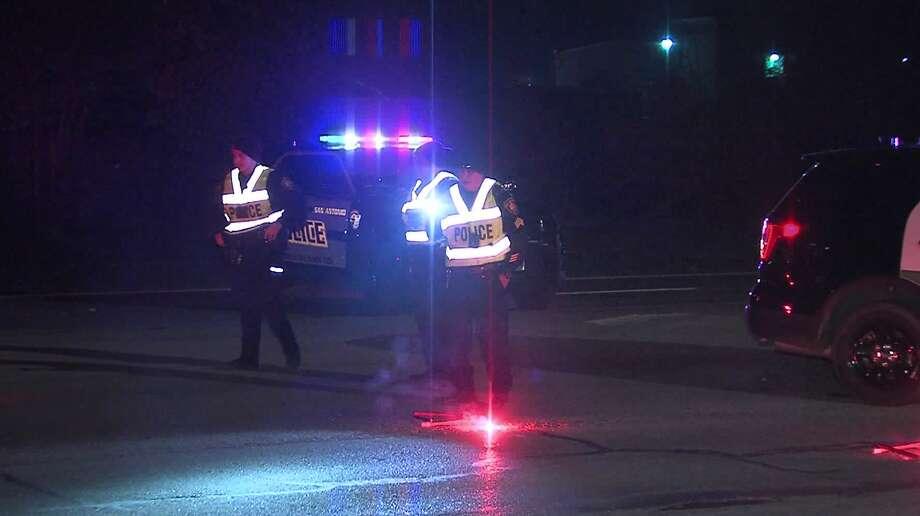 San Antonio police investigate the scene of a fatal motor vehicle pedestrian accident Saturday morning, Nov. 2, 2019. Photo: 21 Pro Video