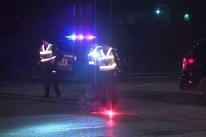 San Antonio police investigate the scene of a fatal motor vehicle pedestrian accident Saturday morning, Nov. 2, 2019.