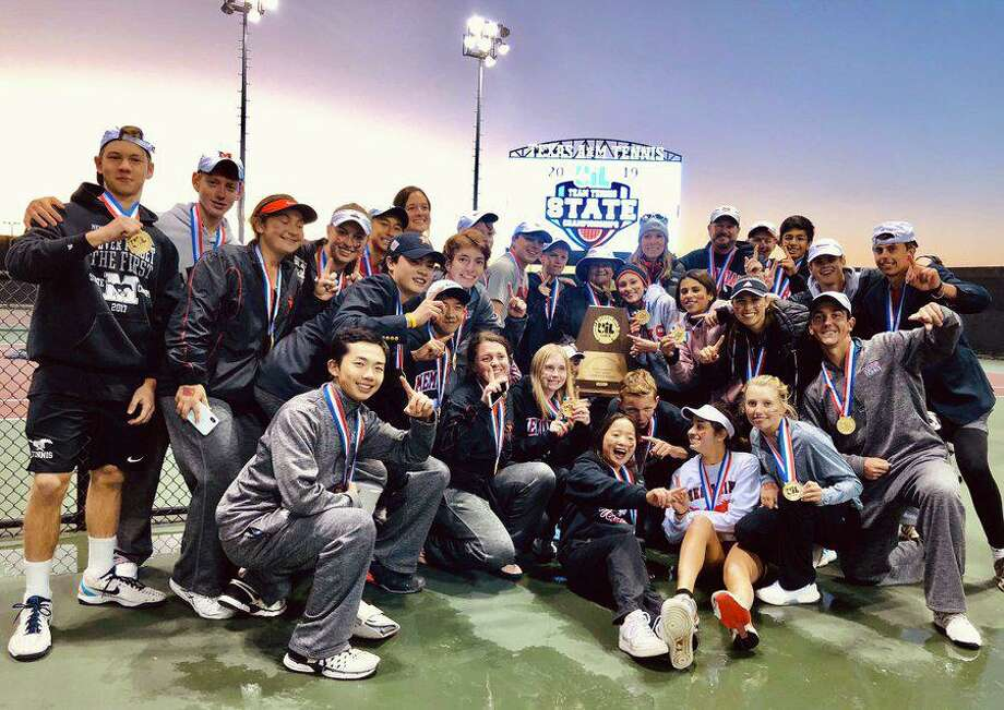 The Memorial tennis team won the second UIL state championship in program history, defeating Southlake Carroll and Plano West for the Class 6A crown Oct. 31 at Texas A & M University. Photo: Spring Branch ISD Athletics / Spring Branch ISD Athletics