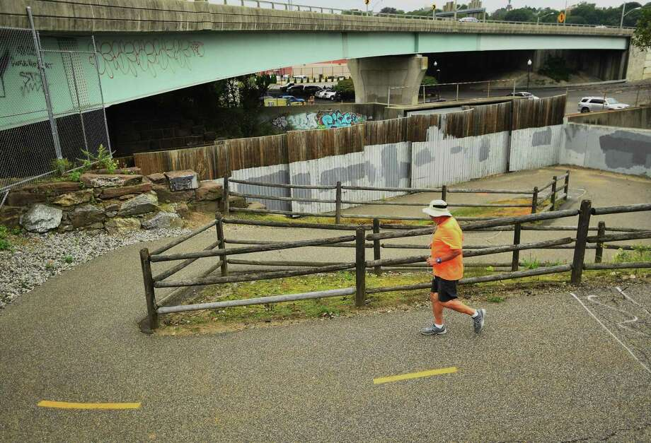 FILE PHOTO of a jogger on the Naugatuck River Greenway in Derby, Conn. on Thursday, September 12, 2019. Photo: Brian Pounds / Hearst Connecticut Media / Connecticut Post