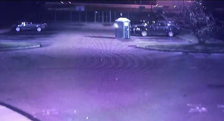 A screenshot from the surveillance video posted by Guilford police. Photo: Contributed Photo / Guilford Police Department