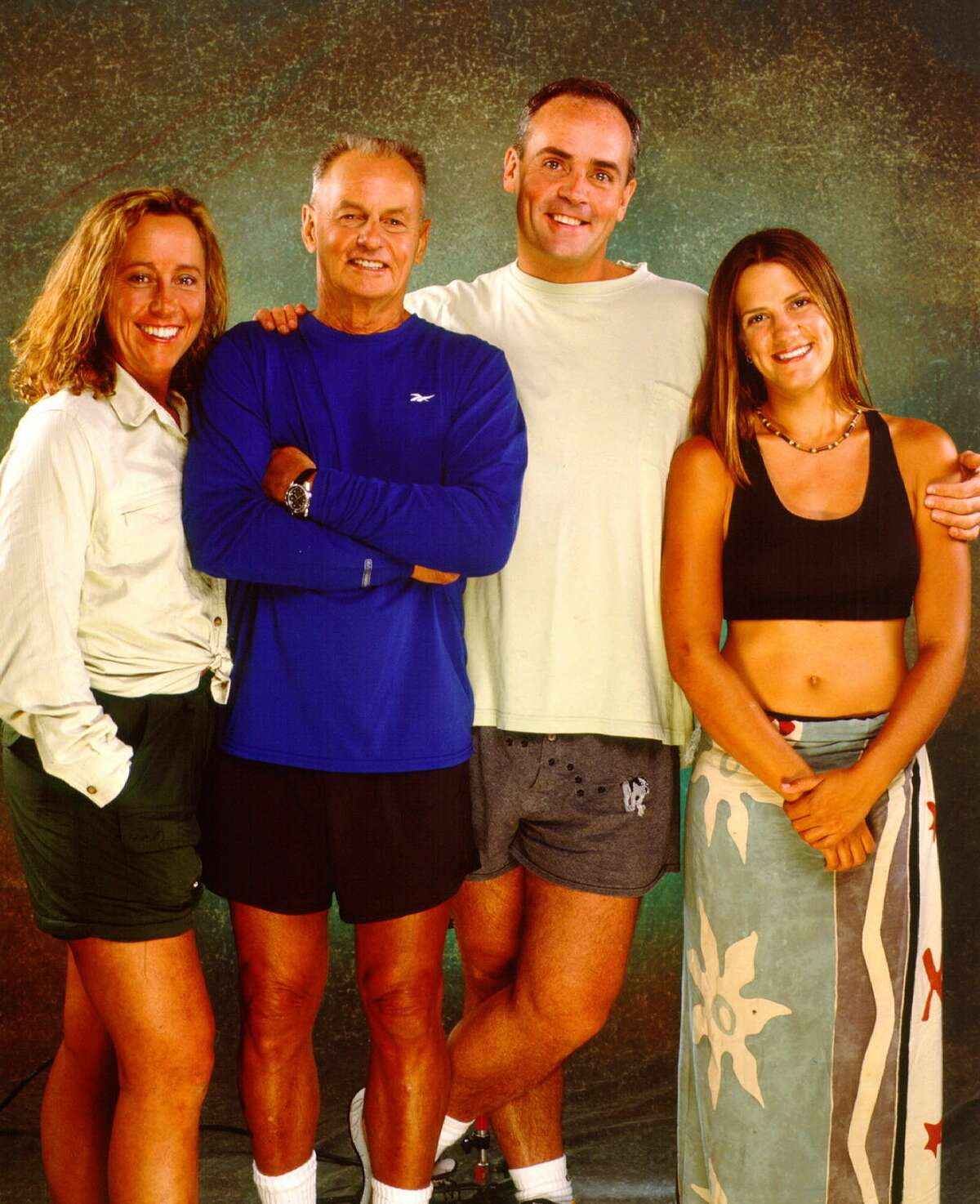 Four months after the final episode of SURVIVOR was taped on Pulau Tiga in the South China Sea, the final four castaways (from left: Susan, Rudy, Richard and Kelly) reunited in Los Angeles in August. At the conclusion of the final episode, which will be broadcast on Wednesday, August 23, 2000 at 8 p.m. to 11 p.m. (ET/PT) on the CBS Television Network, one of the four will leave the island $1 million richer.