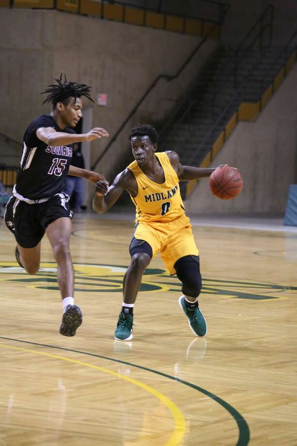 Midland College guard Derrick Ogechi is shown in action last season. Photo courtesy of Forrest Allen/MC Athletics Photo: Forrest Allen,  Midland College Athletics