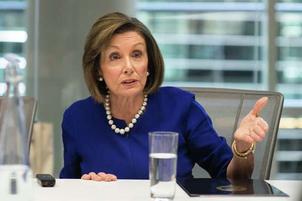 U.S. House Speaker Nancy Pelosi, a Democrat from California, speaks during an interview in New York, U.S., on Friday, Nov. 1, 2019. PelosiA said Friday she expects the Democratic-led impeachment inquiry of PresidentA Donald TrumpA to begin public hearings this month but insisted therea€™s no deadline to finish the investigation. Photographer: Kholood Eid/Bloomberg