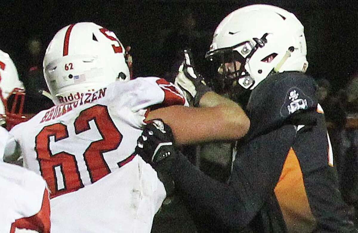 The Harbor Beach Pirates opened the 2019 MHSAA playoffs with a 22-0 win over Saginaw Michigan Lutheran Seminary on Saturday night, Nov. 2, 2019.