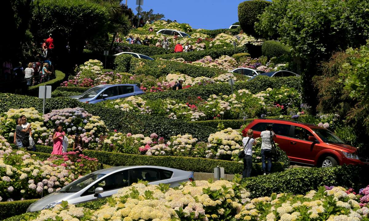 Tourist pamphlets describe Lombard Street in San Francisco as the
