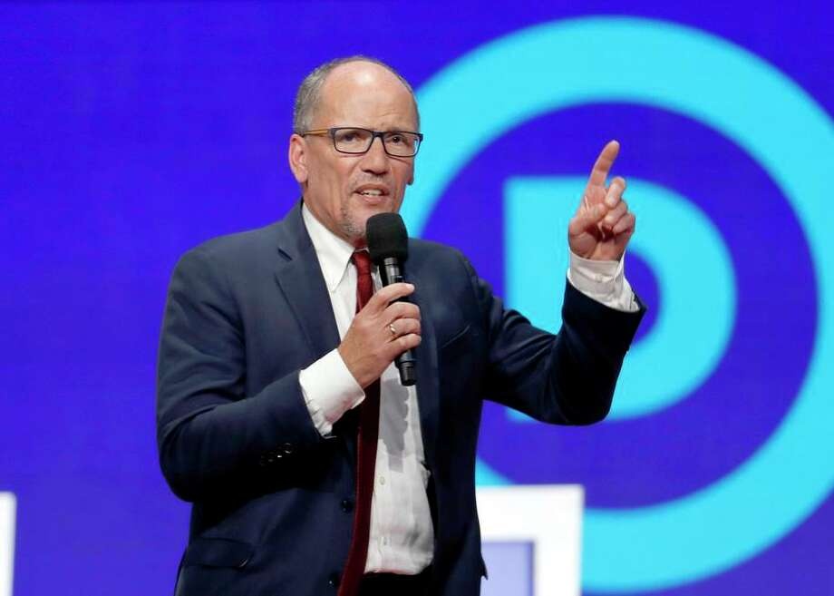 Tom Perez, head of the Democratic National Committee, wants candidates to actively campaign for the party's nominee. Photo: John Minchillo / Associated Press / Copyright 2019 The Associated Press. All rights reserved.