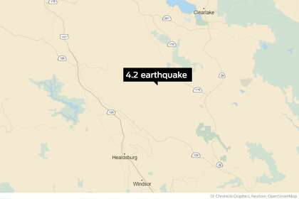4.2 quake, 2nd in 2 days, hits Sonoma County north of Healdsburg