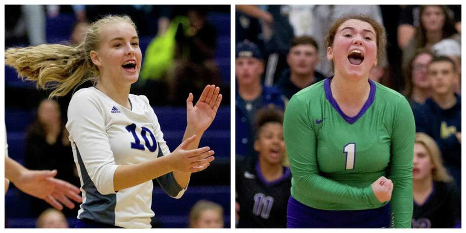 Setter Izzy Sundquist, left, and libero Erin Bond have been instrumental in helping Willis get back into the playoffs this season. Photo: Staff Photos
