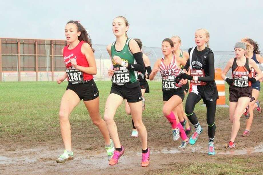 Benzie Central junior Cierra Guay races toward an all-state finish. (Photo/Robert Myers)