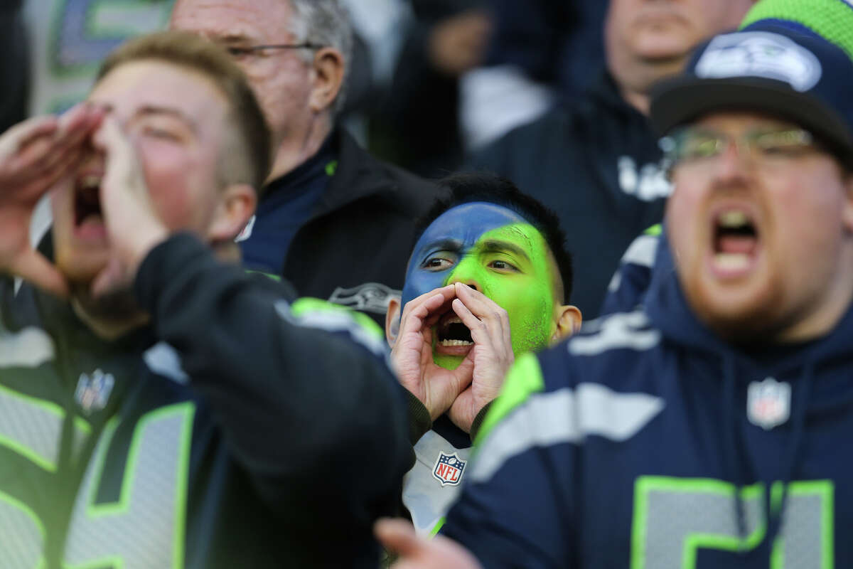 Fans cheer in the fourth quarter of Seattle's game against Tampa Bay, Sunday, Nov. 3, 2019 at CenturyLink Field. The Seahawks won 40-34 in overtime.