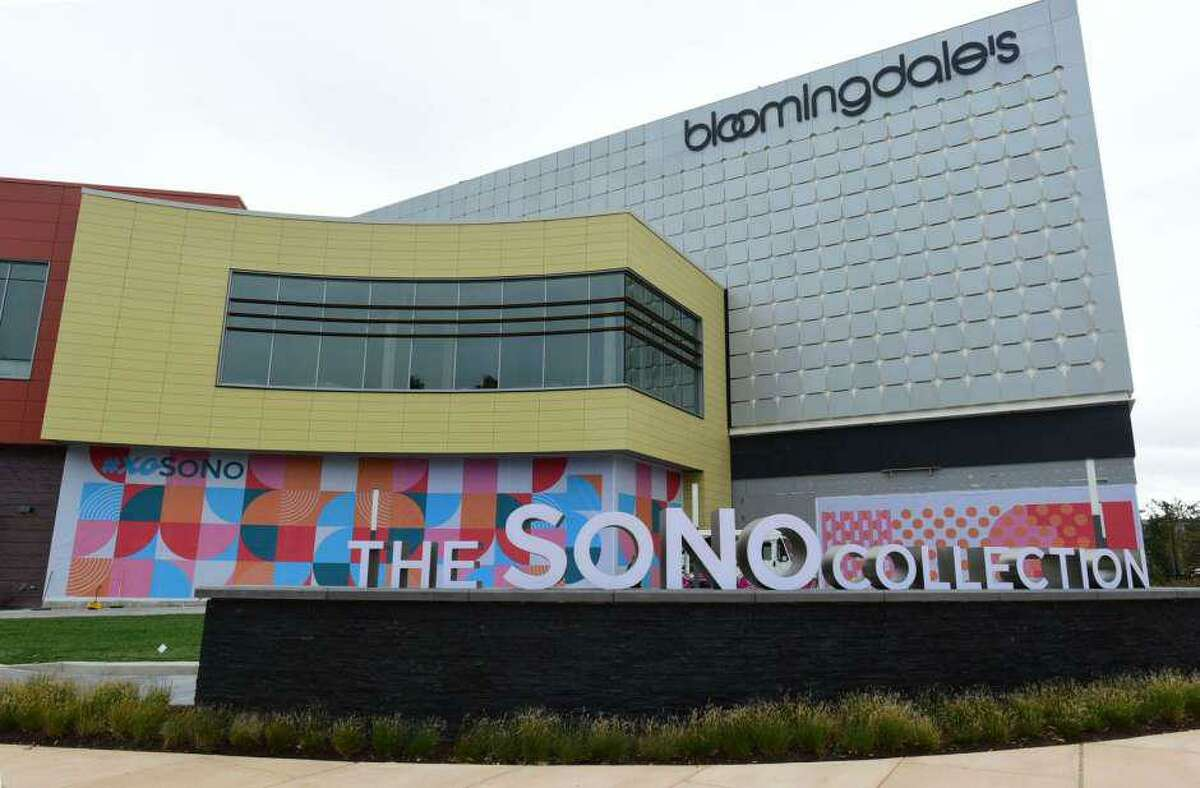 The facade of Bloomingdale's at The SoNo Collection mall in South Norwalk, Conn.