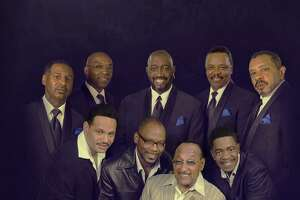 The Temptations, in the back row, and The Four Tops will perform at Stamford's Palace Theatre, Nov. 20.