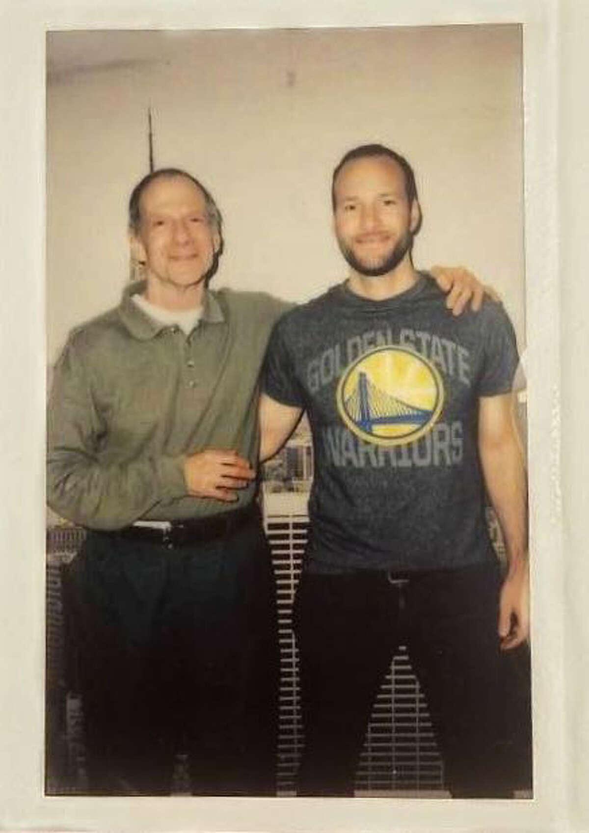 Chesa Boudin and his father, David Gilbert.