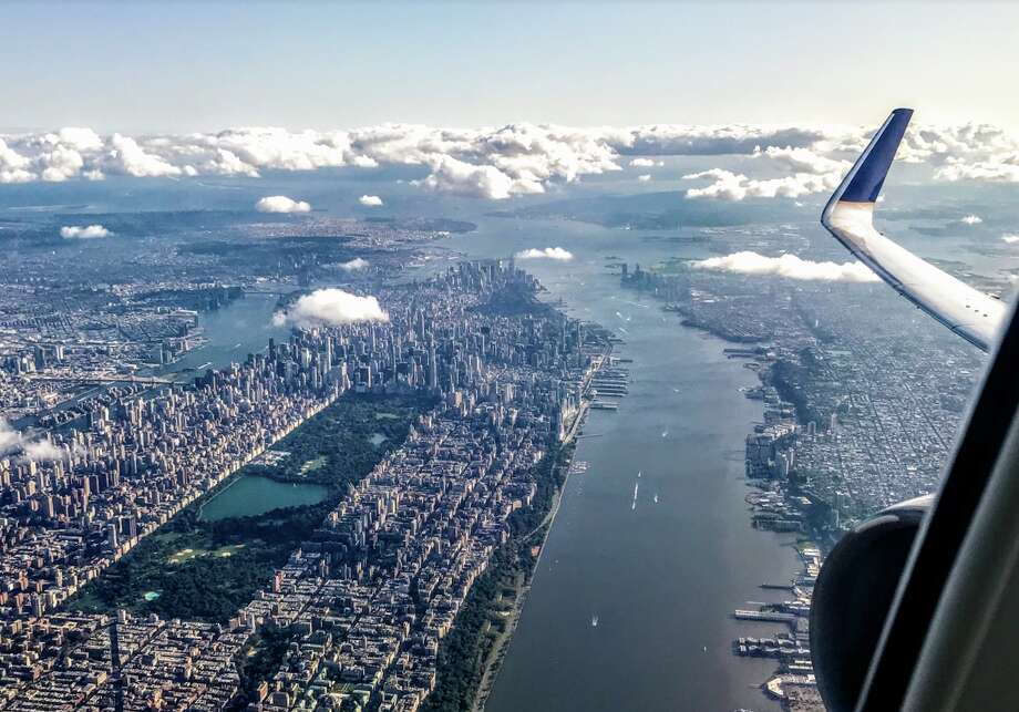 Taking off from Newark, we took in a crystal clear view of New York City Photo: Chris McGinnis