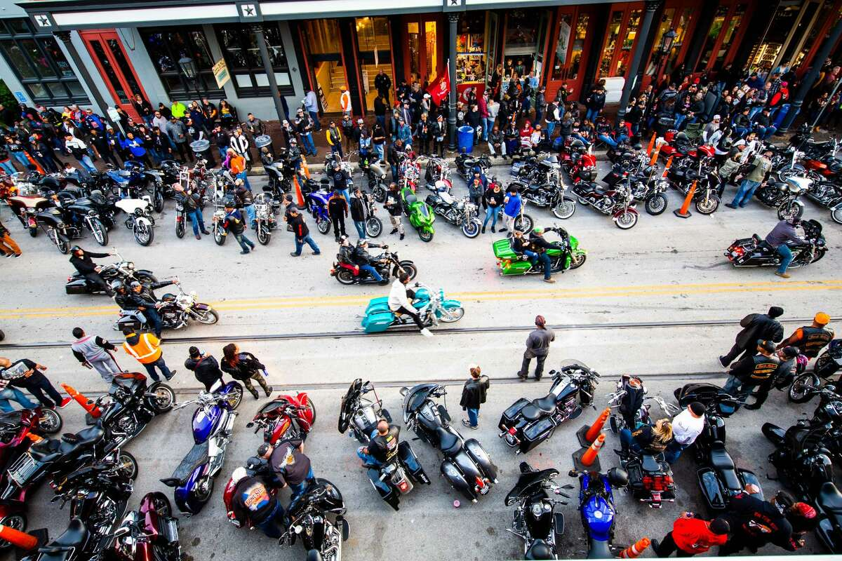 More than 150,000 motorcycles could be seen parading the Stand and Galveston Island during the annual event.