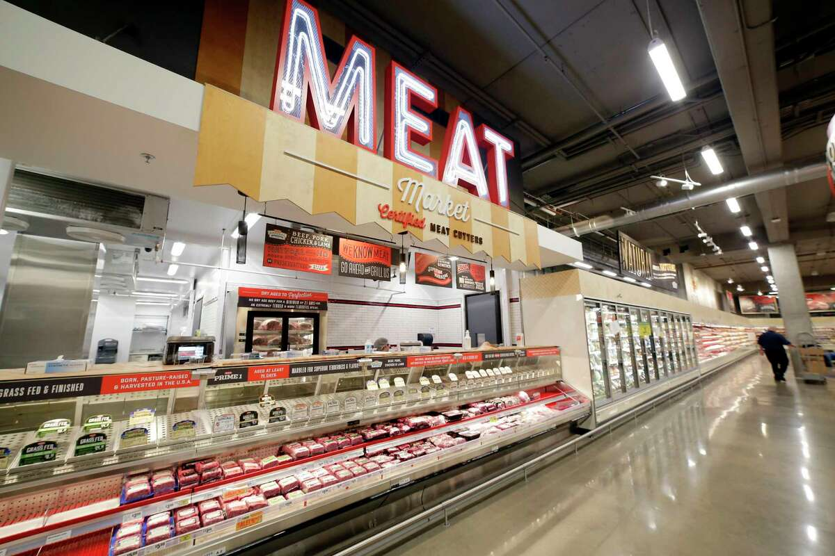The meat department of the H-E-Bat Buffalo Heights in Houston, TX.