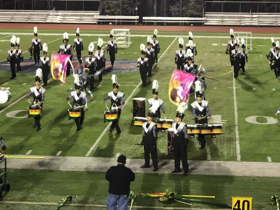The Trumbull High School Golden Eagle Marching Band performed in their penultimate competition for the 2019 fall season, earning a score of 92.625.  The THSGEMB concludes the season this Saturday, Nov. 9, at the USBands National Championships at MetLife arena in East Rutherford, New Jersey. Photo: Contributed Photos
