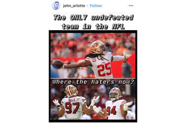Memes Cheer Mock 49ers As Nfl S Last Undefeated Team Sfgate