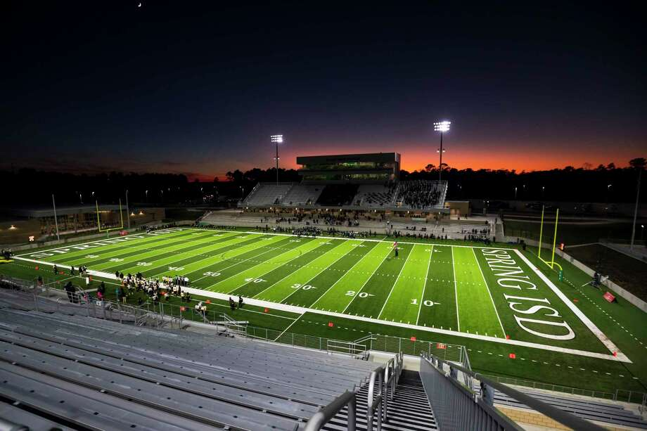 New Planet Ford Stadium is shown at sunset before a high school football game Thursday, Oct 31, 2019, in Spring, Texas. Photo: Joe Buvid, Houston Chronicle / Contributor / © 2019 Joe Buvid