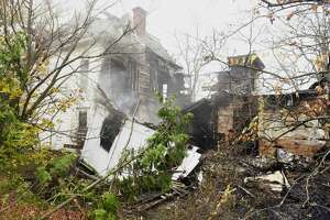 A view of an abandoned building at 867 Second Ave. that was destroyed by a fire, seen here on Monday, Nov. 4, 2019, in Troy, N.Y.     (Paul Buckowski/Times Union)