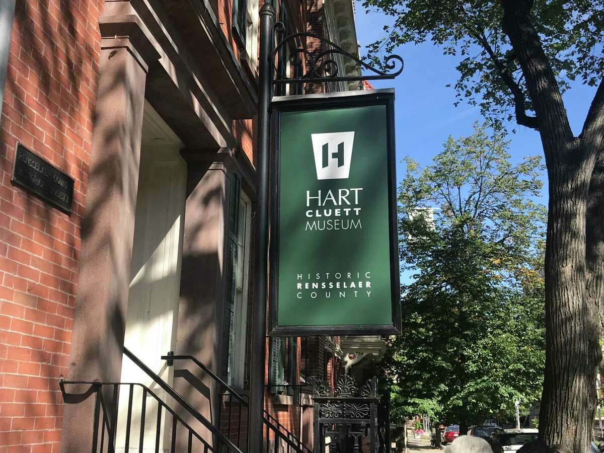 The new sign announcing Historic Rensselaer County at the Hart Cluett Museum at 57 Second St., Troy, New York, replacing the old Rensselaer County Historical Society name.