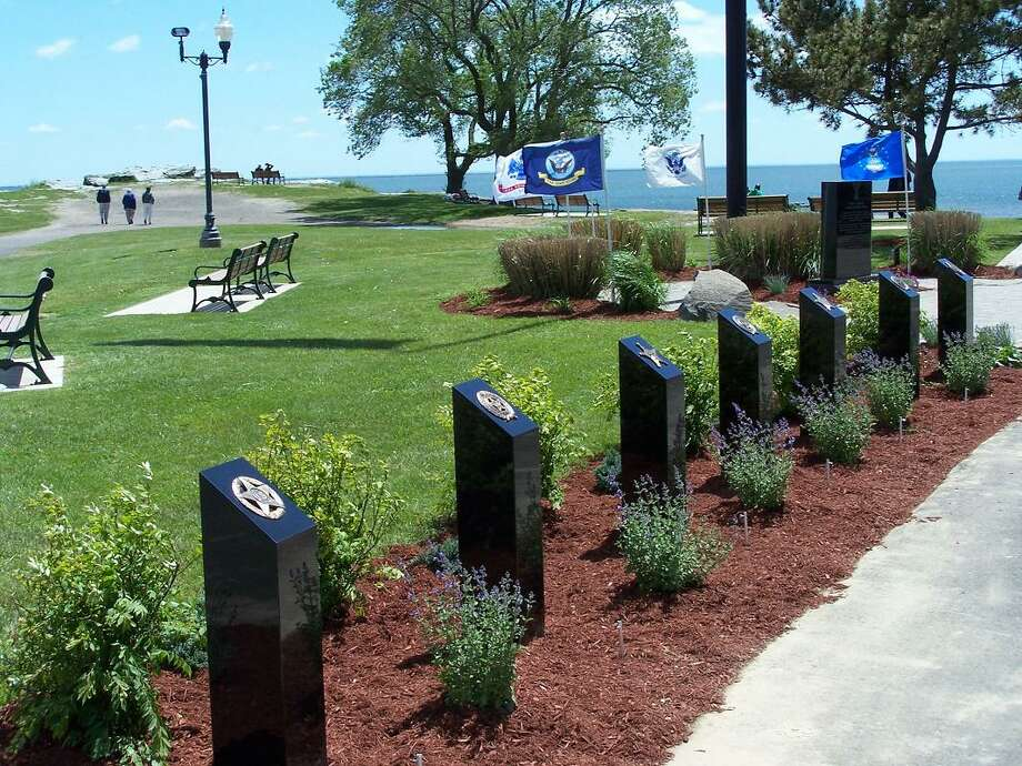The Veterans Walk of Honor in Bradley Point Park in West Haven. Photo: Michael P. Walsh / Contributed Photo