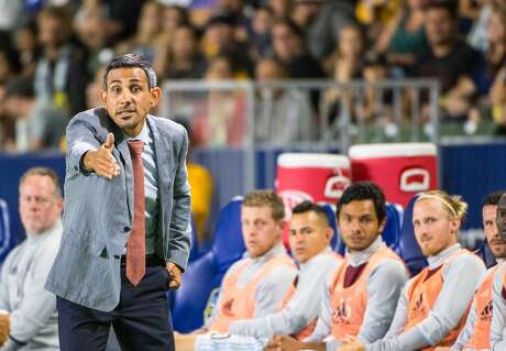 CARSON, CA - AUGUST 13: Pablo Mastroeni, coach of the Colorado Rapids, during Los Angeles Galaxy's MLS match against Colorado Rapids at the StubHub Center on August 13, 2016 in Carson, California. The final score was 1-1 (Photo by Shaun Clark/Getty Images)