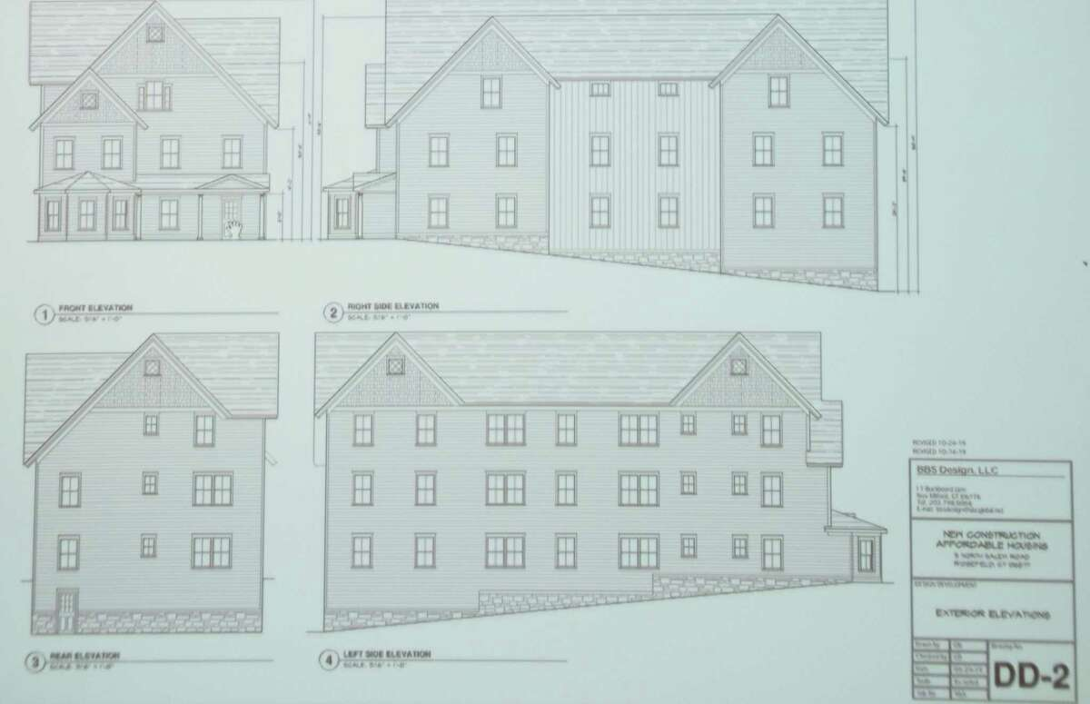 The proposed nine-unit apartment building at 5 North Salem Road was presented to the Planning and Zoning Commission on Tuesday, Oct. 29.