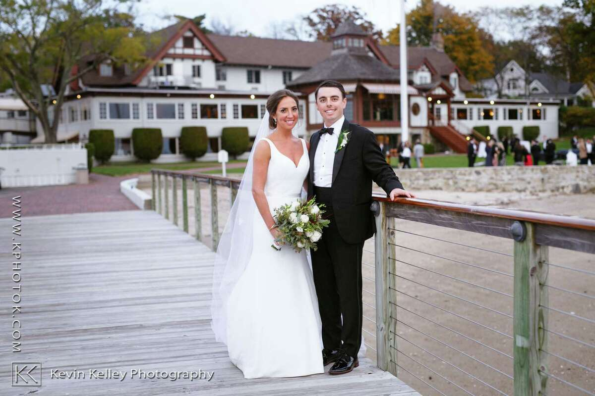 Brittany N. Phillips and Edward (Tripp) F. Lyons III were married last month at Saint Luke's Episcopal Church in Darien with Reverend Ellen Tillotson officiating.
