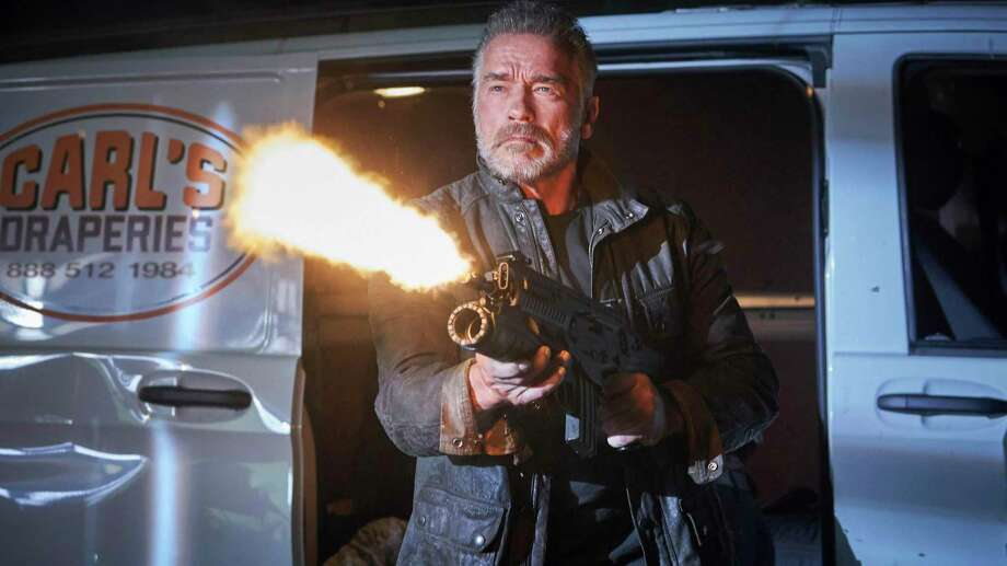"Arnold Schwarzenegger stars in ""Terminator: Dark Fate."" Photo: Kerry Brown /Associated Press / PHOTOGRAPHS TO BE USED SOLELY FOR ADVERTISING, PROMOTION, PUBLICITY OR REVIEWS OF THIS SPECIFIC MOTION PICTURE AND TO REMAIN THE"