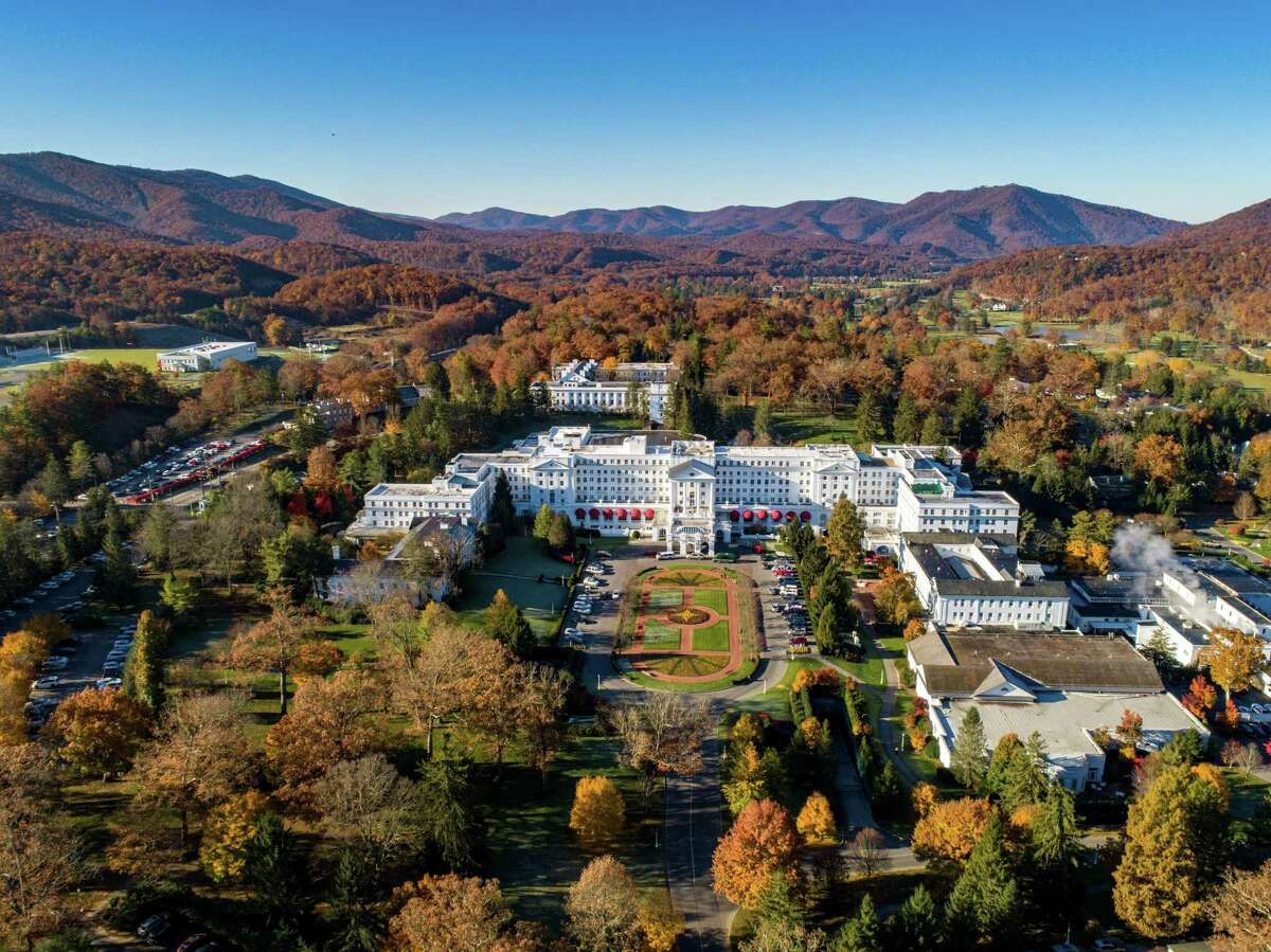 Fall colors at The Greenbrier resort in White Sulphur Springs, W.Va.