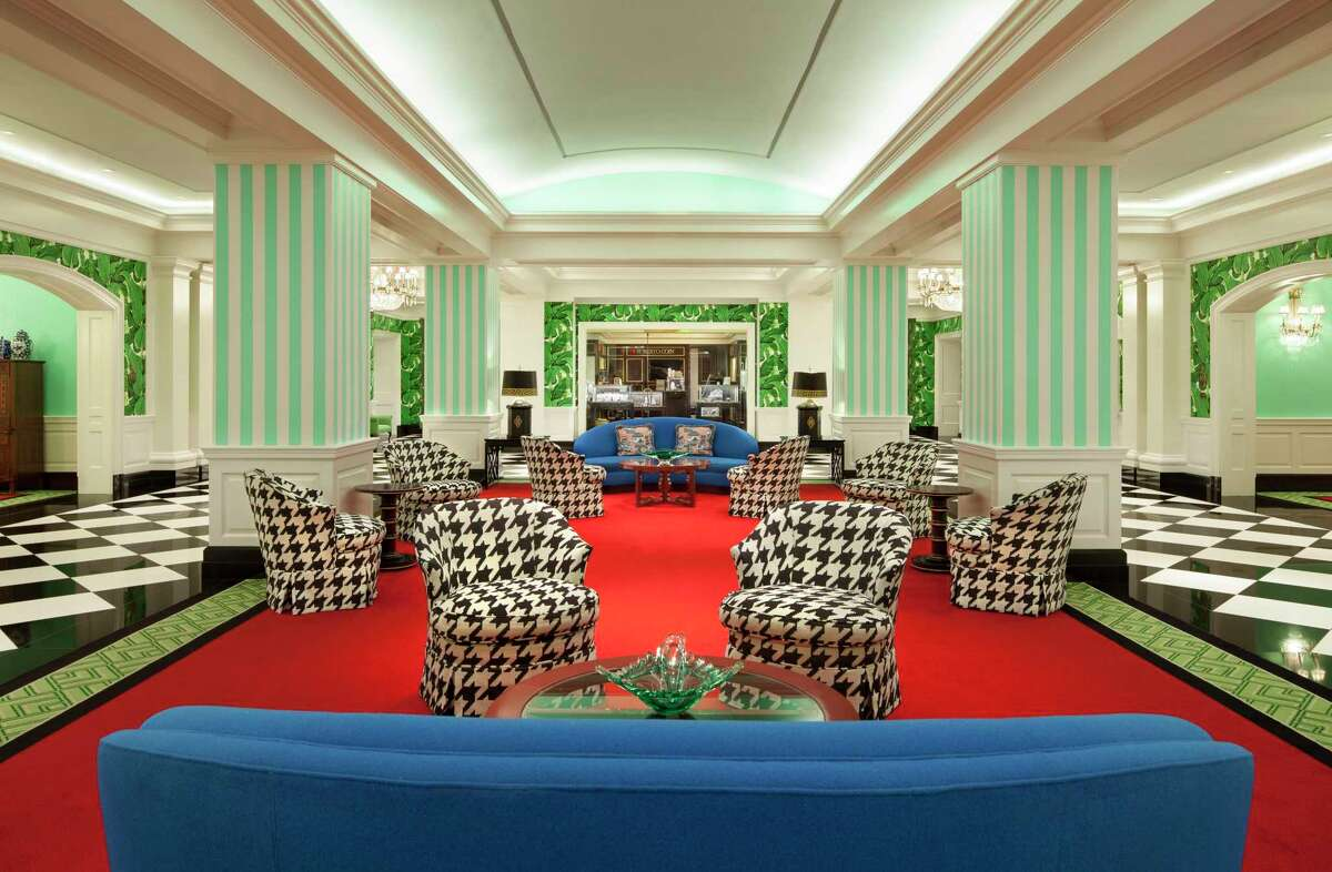 Dorothy Draper & Co. has been the interior designer at The Greenbrier since just after World War II. The firm filled the hotel with plenty of color, patterns and Southern elegance.