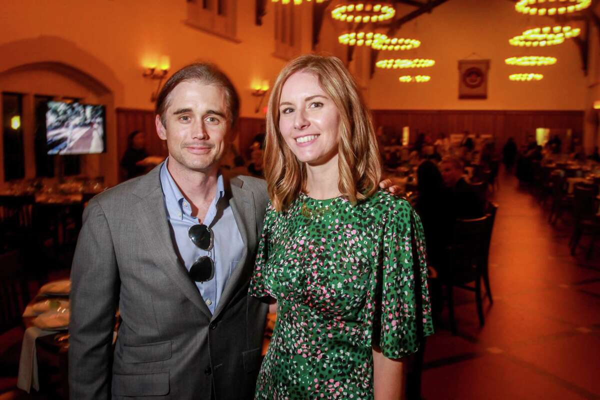 Bart Fletcher and Ashley Horne at Urban Harvest's celebration of its 25th anniversary with five-course meal prepared by 25 celebrity chefs at St. John's School on November 3, 2019.