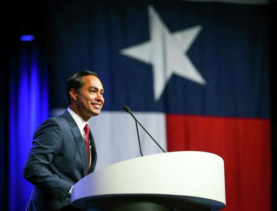 Julián Castro, shown at last year's Texas Democratic Convention in Fort Worth, is still in the race for the Democratic presidential nomination after raising $800,000. But a reader would like to see him  go. Photo: Associated Press File Photo / FR170526 AP