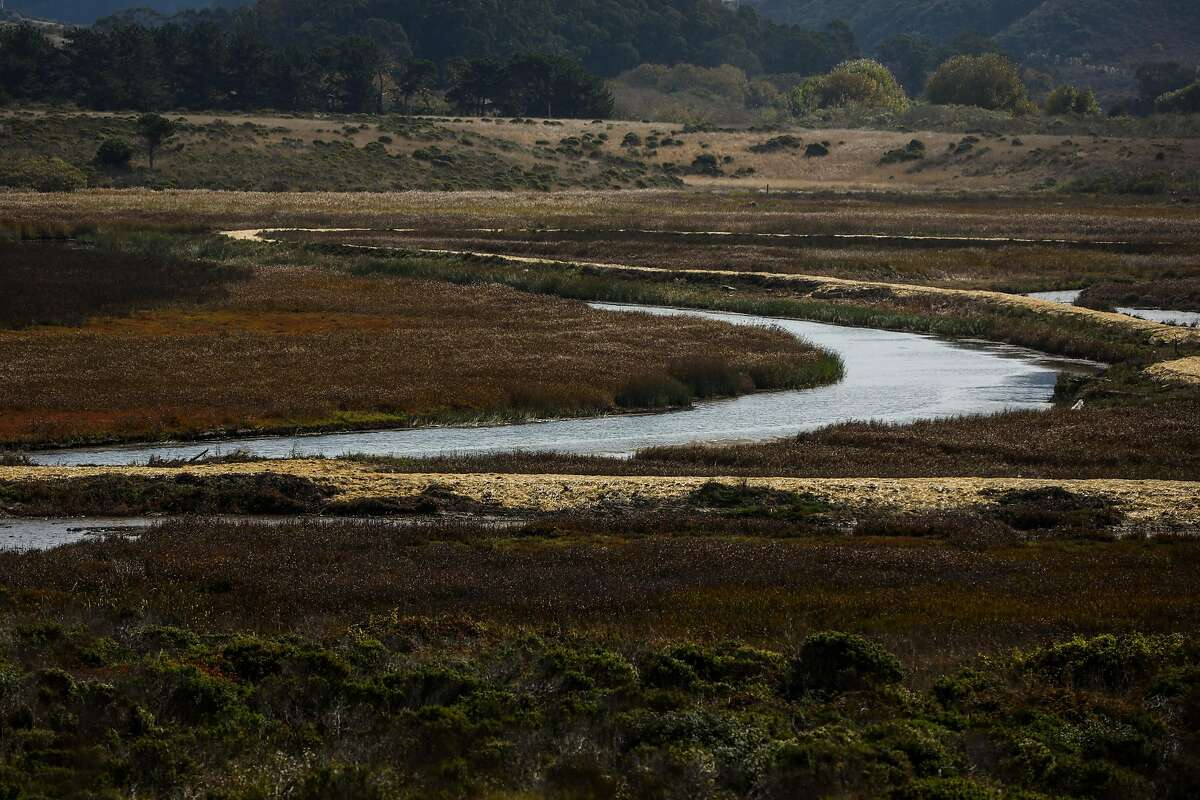 A view of the Pescadero marsh natural preserve in Pescadero, California, on Wednesday, Oct. 16, 2019.