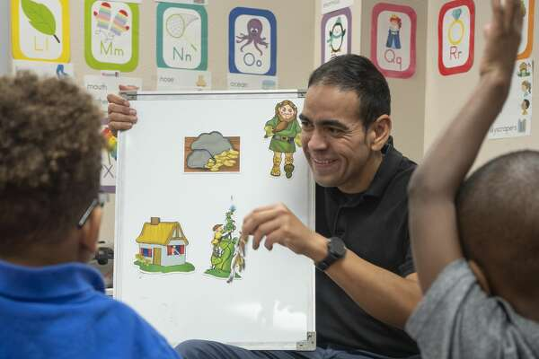 Jesse Garay, pre-k teacher at Henderson Elementary. 11/04/19 Tim Fischer/Reporter-Telegram