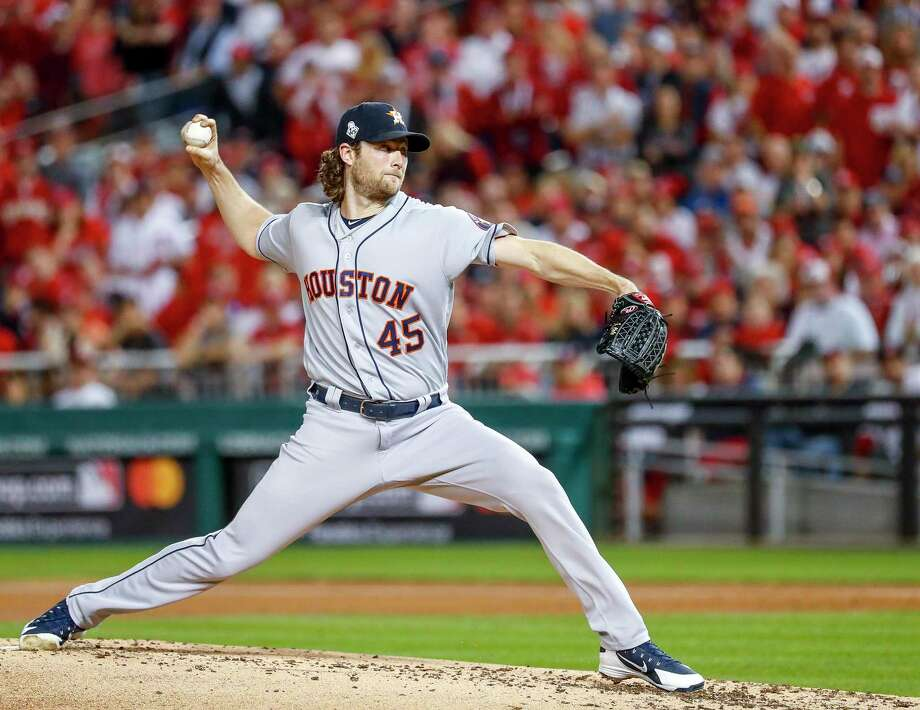 PHOTOS: A look at each Astros player's contract heading into the offseason Gerrit Cole, pitching in Game 5 of the World Series, was extended a qualifying offer by the Astros. The move is considered procedural. Photo: Karen Warren, Houston Chronicle / Staff Photographer / © 2019 Houston Chronicle
